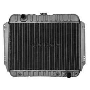 Chevelle Radiator, Small Block, 4-Row, For Cars With Automatic Transmission & Without Air Conditioning, Desert Cooler, U.S. Radiator, 1966-1967