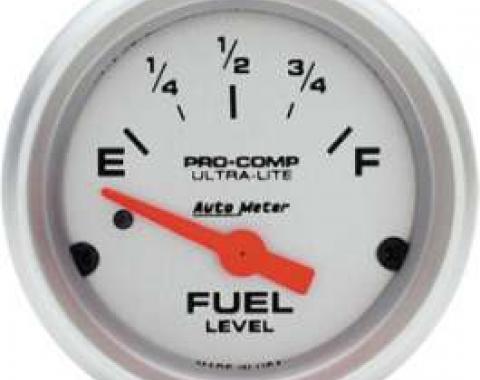 Chevelle Gas Gauge, 0-90 Ohm, Ultra-Lite Series, AutoMeter,1964-1972