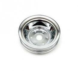 Chevelle Crankshaft Pulley, Small Block, Triple Groove, Chrome, 1969-1972
