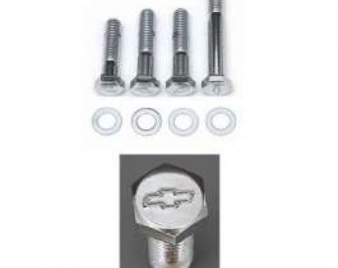 Chevelle Water Pump Bolt Set, Small Block, Chrome, For Cars With Short Water Pump, 1964-1972