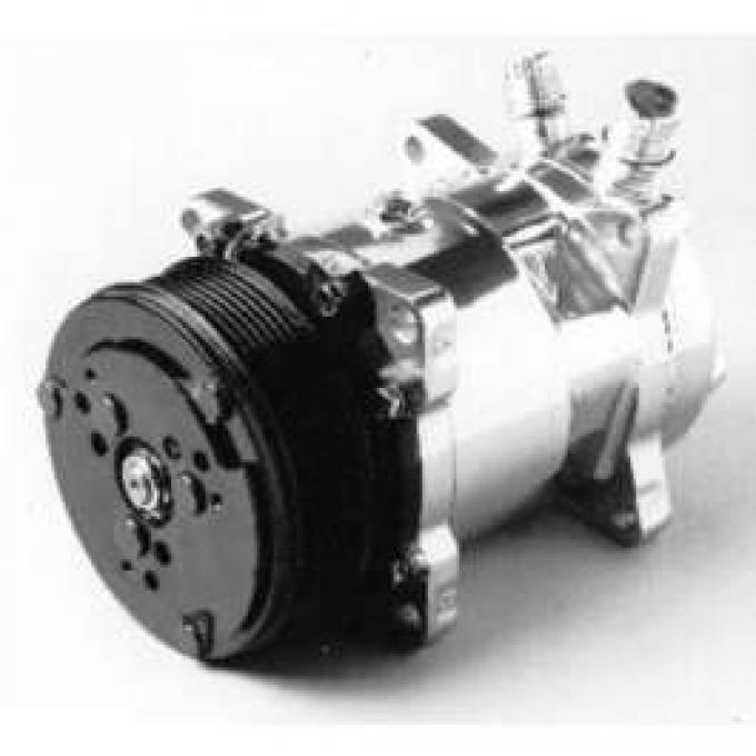 Chevelle Air Conditioning Compressor, Chrome, Sanden 508/134A, 1964-1983