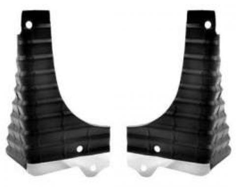 Chevelle & El Camino Grille Extensions, Super Sport (SS), Black, 1968