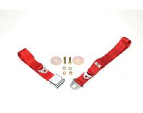"""Seatbelt Solutions 1964-1966 Chevelle, Rear Lap Belt, 60"""" with Chrome Lift Latch 1800602006 