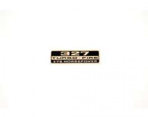 Chevelle, 327 Turbo-F Valve Cover Decal 275 hp, 1967-1968