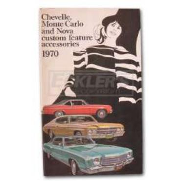 Chevelle Custom Features Accessory Brochure, 1970