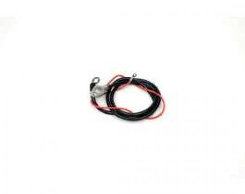 Chevelle Battery Cable, Spring Ring, Positive, 6 Cylinder, 1966