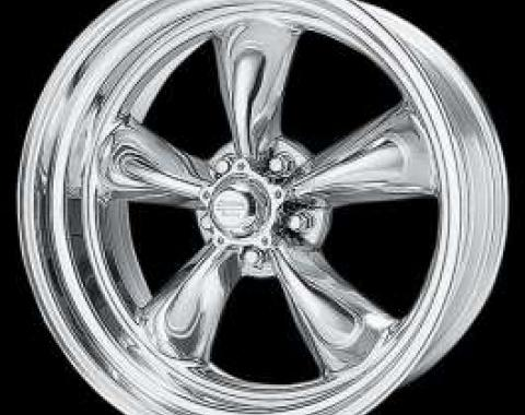 Chevelle Torq-Thrust II Wheel, Polished, 17 x 8, American Racing, 1964-1972