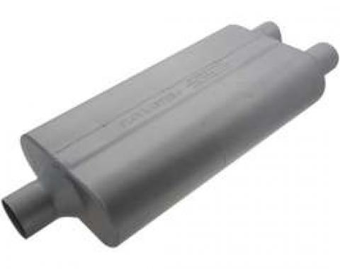 Chevelle Muffler, 2.25, Center/Offset, 50 Series Performance, Flowmaster, 1964-1972