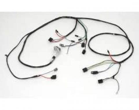 Chevelle Front Light Wiring Harness, For Cars With Factory Gauges, 1966