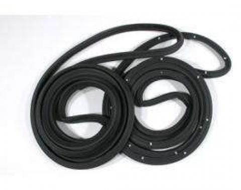Malibu Door Weatherstrip Seals, Rear Doors, For 4-Door Sedan & Wagon, 1978-1983