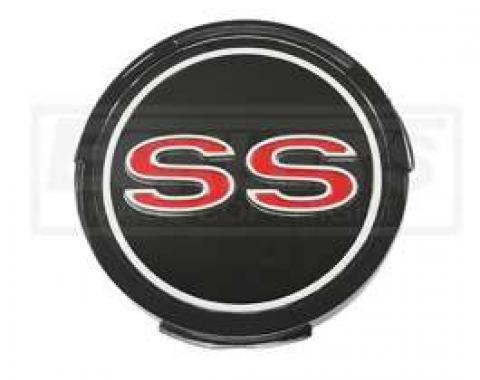 Chevelle Emblem, SS, Wheel Cover Center, 1967
