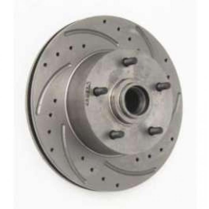 Chevelle Front Disc Brake Rotor, Drilled, Slotted & Vented, Right, 1964-1972