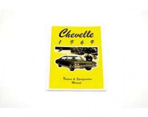 Chevelle Literature, Chevelle Feature & Spec. Manual, 1969