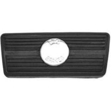 Chevelle Brake Pedal Pad, For Cars With Automatic Transmission & Disc Brakes, 1967-1972