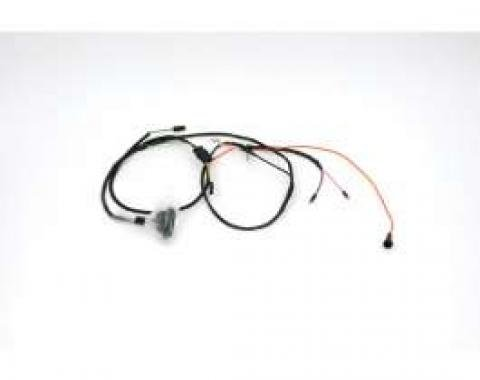 Chevelle Engine Wiring Harness, For Cars With 283 And 327 Engines & Without Air Conditioning & with Gauges, 1966