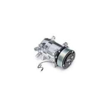 Chevelle Air Conditioning Compressor, Polished, Sanden 508/134A, 1964-1981