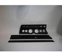 Chevelle Instrument Cluster Panel, Black Finish, With Pre-Cut Holes, 1966