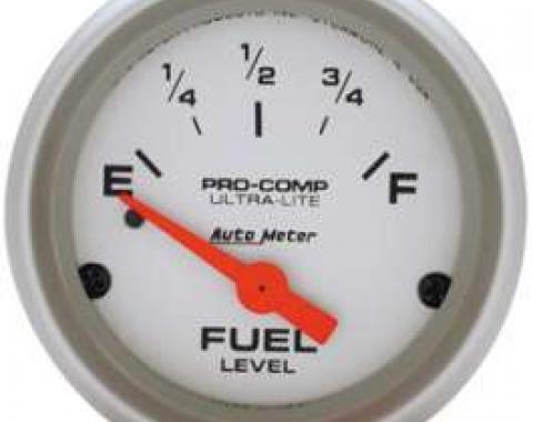 Chevelle Gas Gauge, 0-30 Ohm, Ultra-Lite Series, AutoMeter,1964-1972