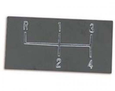 Chevelle Center Console Shift Plate, 4-Speed Shift Indicator, 1968-1972