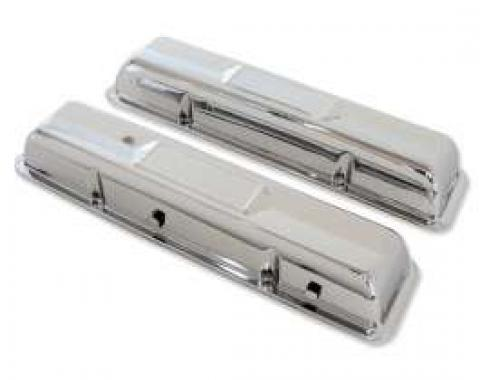 Chevelle Valve Covers, Small Block, Chrome, 1964-1967