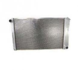 Malibu Griffin Aluminum Radiator, 2 Row With Large Tubes, Natural Finish, With Manual Transmission, 1978-1983