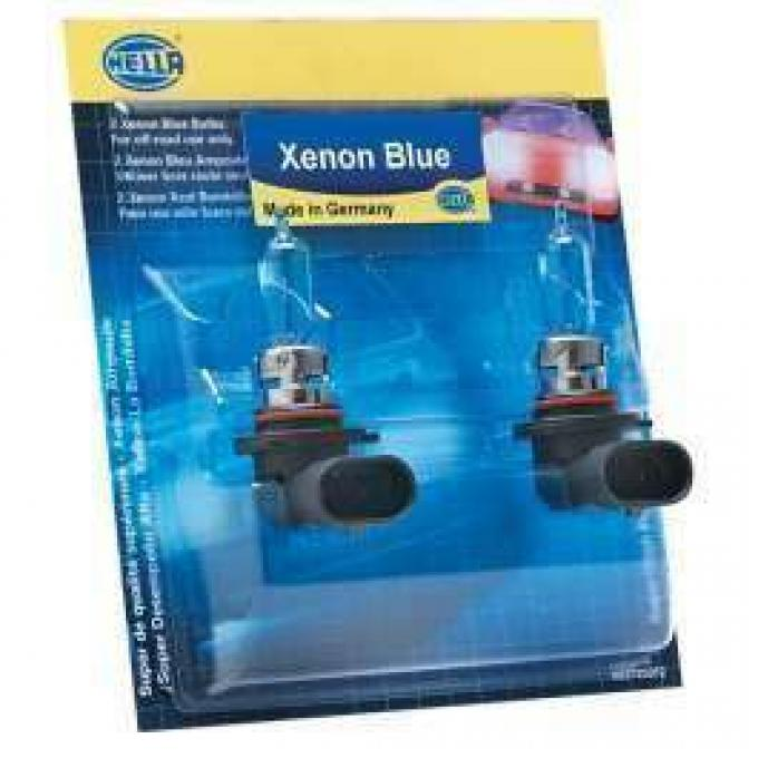 Chevelle Headlight Bulbs, Halogen, H4, Xenon Blue, Hella, 60/55W, 1970-1975