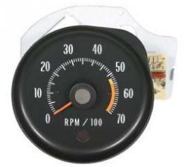Chevelle Tachometer, 5500 RPM Redline, 1971-1972