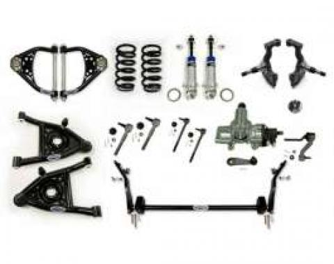Chevelle Front Suspension, Speed Kit 3, Small Block And LS Motors, Detroit Speed (DSE), 1964-1966