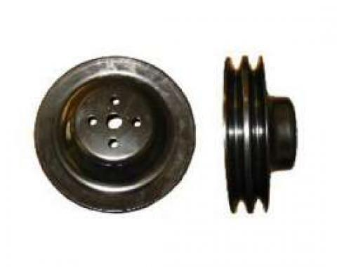 Chevelle Water Pump Pulley, 396/375hp L78, Deep Double Groove, Black, 1965-1968