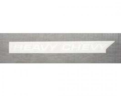 Chevelle Hood Decal, Heavy Chevy, White, 1971-1972