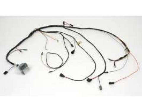 Chevelle Engine Wiring Harness, Big Block, For Cars With Factory Gauges & Turbo Hydra-Matic TH400 Automatic Transmission, 1972