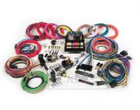 Chevelle Custom Car Wiring Harness Kit, Modular Panel, 15-Circuit, Highway 15, American Autowire, 1964-1972