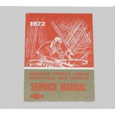 Chevelle Literature, Shop Manual, 1972