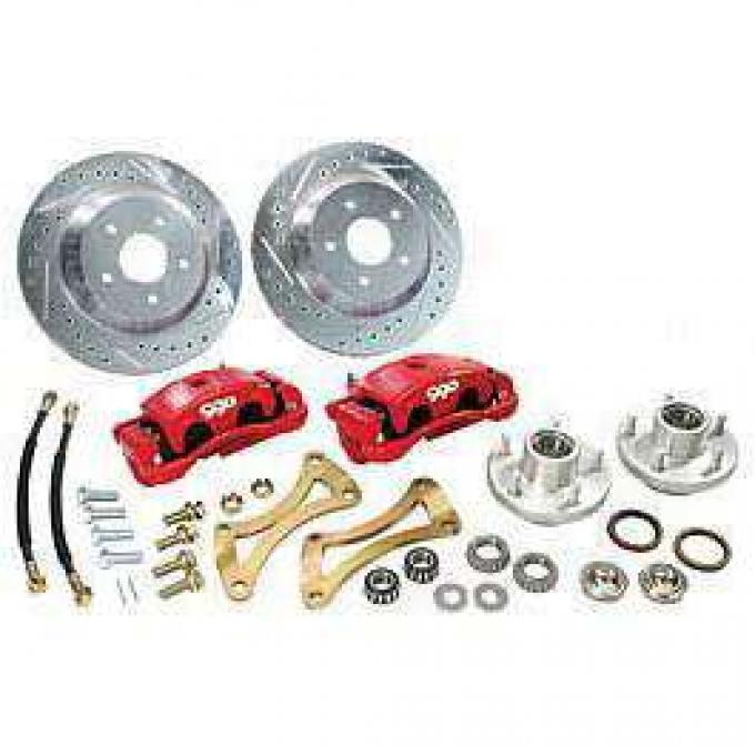 Chevelle Disc Big Brake Conversion Kit, Front, For Stock Spindle, 1964-1972
