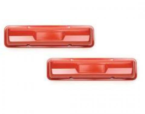 Chevelle Valve Covers, Small Block, Chevy Orange, 1964-1967