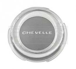 Chevelle Horn Button Assembly, Steering Wheel, Chevelle Emblem, 1967