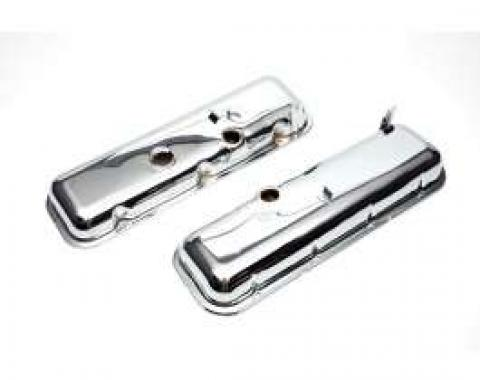 Chevelle Valve Covers, Big Block, Chrome, Without Power Brakes, 1964-1972