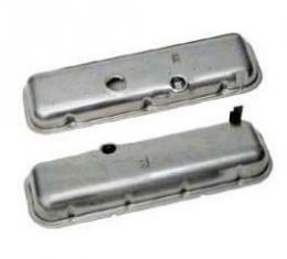 Chevelle Valve Covers, Big Block, Unpainted, For Cars Without Power Brakes, 1964-1972