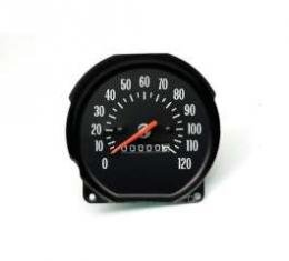 Chevelle Speedometer, With White Numbers, Super Sport (SS), For Cars With Floor Shift Transmission, 1971-1972