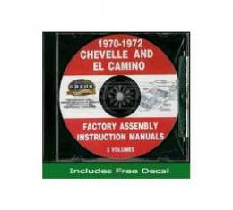 Chevelle Factory Assembly Instructions Manual, On CD, 1970- 1972