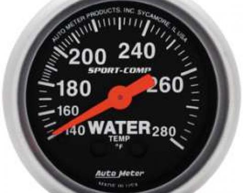 Chevelle Water Temperature Gauge, Mechanical, Sport-Comp Series, AutoMeter. 1964-1972