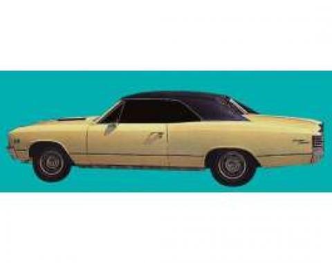Chevelle Wheel Opening & Body Side Stripe Kit, White, Super Sport (SS), 1967