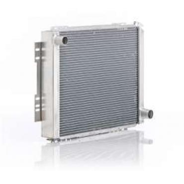 Chevelle Radiator, Small Block, For Cars With Manual Transmission, Eliminator, Be Cool, 1966-1967
