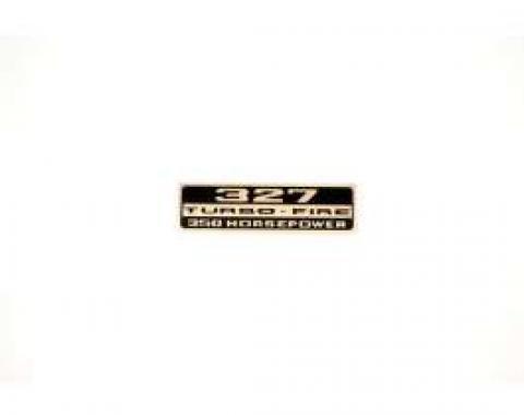 Chevelle Valve Cover Decal, 327 Turbo-Fire 350 hp, 1966