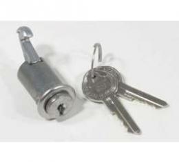 Chevelle Glove Box Lock Set, With Original Style Keys, 1964-1965