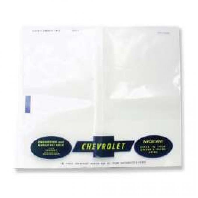 Chevelle Plastic Bag, Owners Manual, 1964-1966