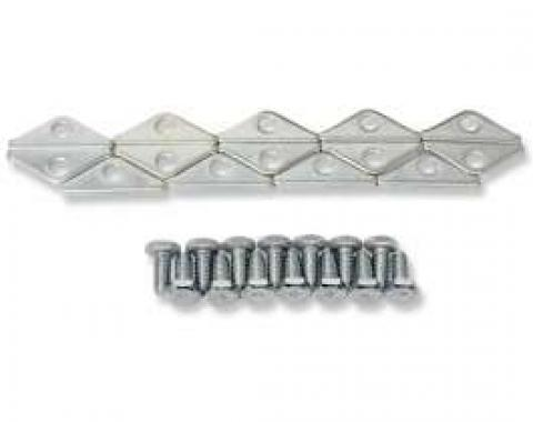Chevelle Valve Cover Retainer & Bolt Set, Big Block, 1965-1972