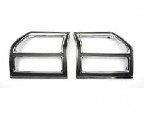 Chevelle Taillight Bezels, Left & Right, Except Wagon, 1969