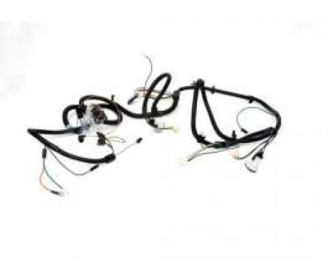 Chevelle Front Light Wiring Harness, 6 Cylinder, Small Or Big Block, 1972