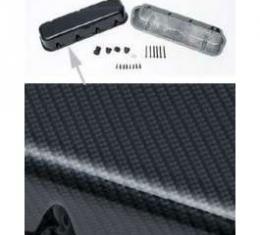 Chevelle Valve Covers, Big Block, Gray & Black, Carbon Fiber Design, 1965-1972